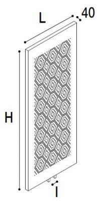 Immagine del radiatore Ying mosaico