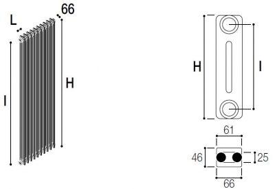 Immagine radiatore RMC 2 COLONNE