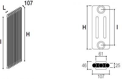 Immagine radiatore RMC 3 COLONNE